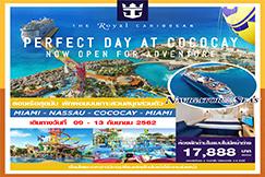 5 วัน 4 คืน ล่องเรือสำราญเส้นทาง Bahamas เที่ยวสวนสนุกส่วนตัว ที่เกาะ โคโคเค, บาฮามาส